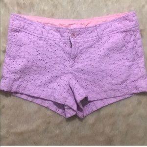 Lilly Pulitzer purple lace shorts , size 10'